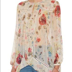 Zimmermann Silk Floral Tunic Blouse